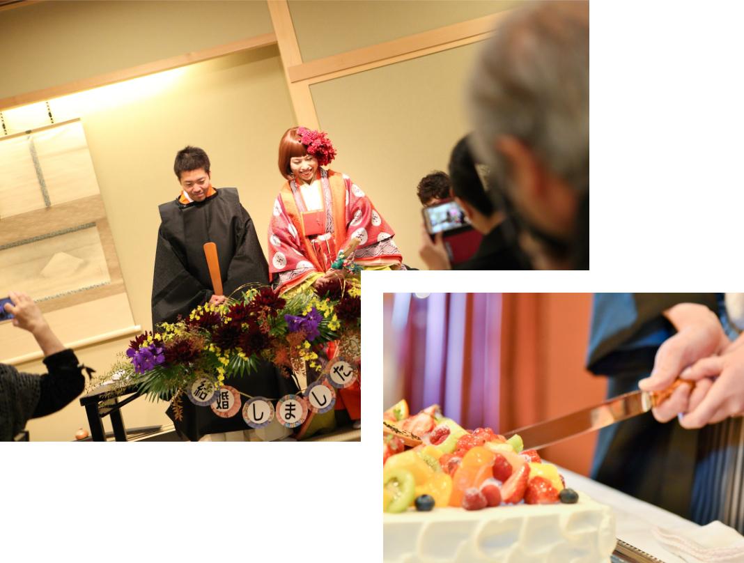 挙式と会食、披露宴イメージ