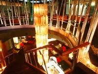 写真:ホテル一栄 ライトアップされた会場