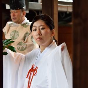 尼崎市貴布禰神社挙式の様子