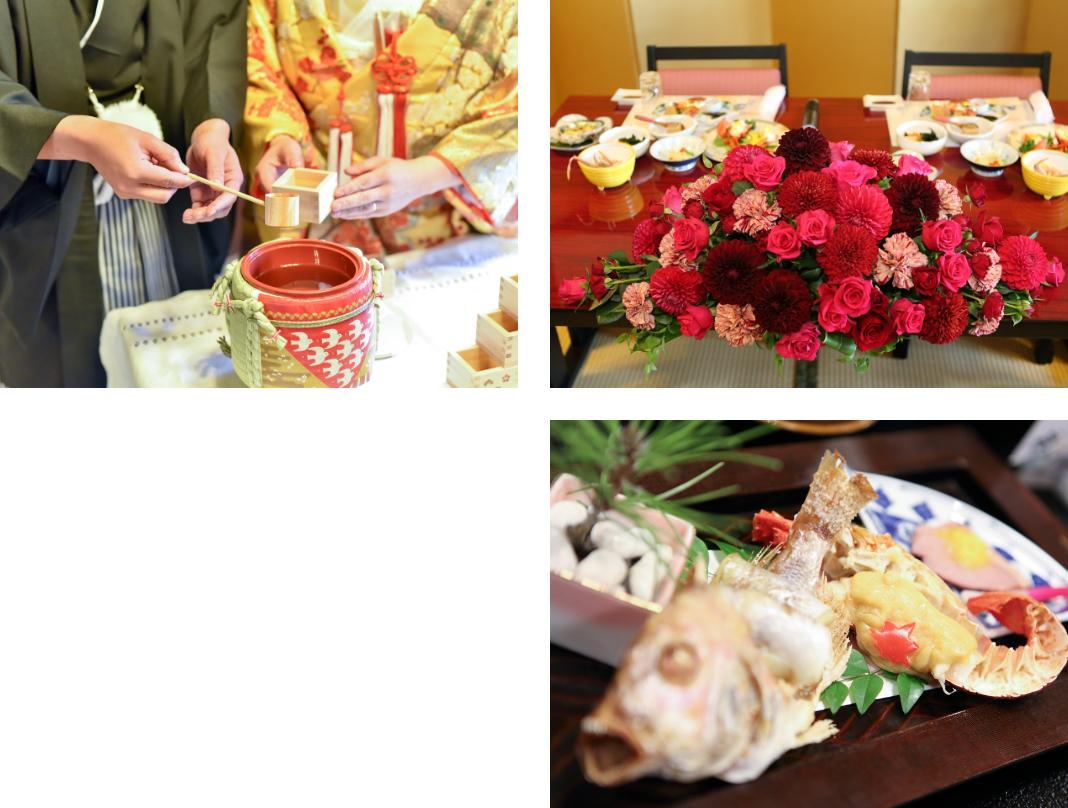 会食、披露宴会場、料理イメージ
