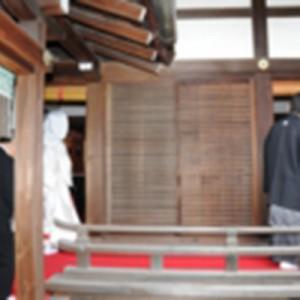 葵生殿で挙式