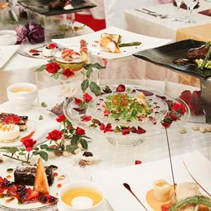ご会食・ご披露宴は和食から西洋料理でお選びください